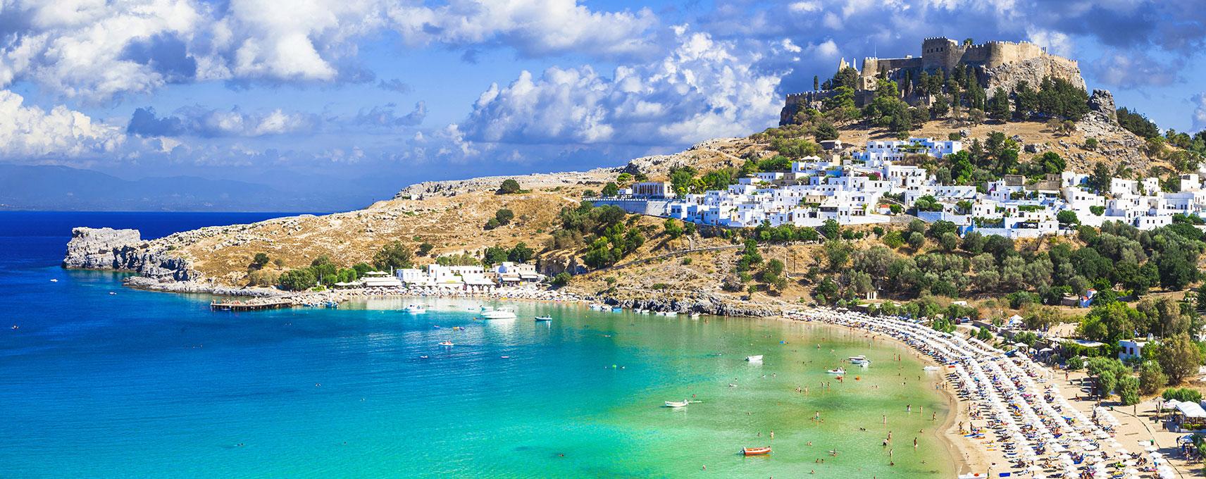Castles On Rhodes Island Greece